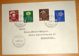 """Schweiz Suisse Pro Juventute 1949: FDC Mit Zu 129-132 Mi 541-544 Yv 493-496 """"BERN 1.XII.49 AUSGABETAG (Zu CHF 160.00) - FDC"""