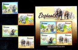 Botswana 2016 Fauna Elephants Set+s/s MNH - Olifanten