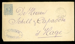 BRIEFOMSLAG VOORDRUK 5 Ct Nvph Nr 35 GELOPEN IN 1892 Van AMERSFOORT Naar 's-GRAVENHAGE (11.449h) - Ganzsachen