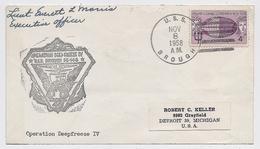 ANTARCTIC South Pole Mail Cover Polar Ship USA Deep Freeze Plane Signature - Basi Scientifiche