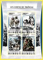 Bloc Feuillet Oblitéré De 4 T.-P. - Les Chiens De Traîneau - N° 1049-1053KB (Michel) - République De Djibouti 2016 - Dschibuti (1977-...)