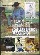 Bloc Sheet Peintre Painting Toulouse Lautrec  MNH  Neuf ** Grenade Grenada 2014 - Grenade (1974-...)