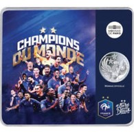 Frankrijk  2018    10 Euro Zilver - Argent  Champion Du Monde à Russia In Een Mooie Coincard  !! - Frankreich
