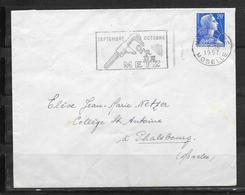 LOT 1810558 - LETTRE DE METZ DU 07/10/57 - FLAMME - Poststempel (Briefe)