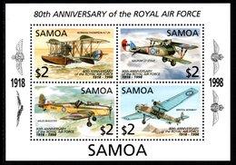 SAMOA 1998 80th Anniversary Of RAF: Miniature Sheet UM/MNH - Samoa