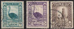 SOMALIA - 1950 - Tre Valori Usati: Yvert 213, 216 E 217. - Somalia (AFIS)