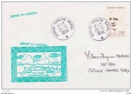 Poste Navale TCD Orage Rotation Pacifique 1994 Toulon Navale. - Scheepspost