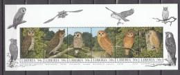 Liberia 1997,6V In KB,owls,uilen,birds,vogels,vögel,oiseaux,pajaros,uccelli,MNH/Postfris(L3309) - Uilen