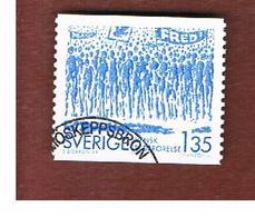 SVEZIA (SWEDEN) - SG 1144  - 1983  SWEDISH PEACE MOVEMENT      - USED ° - Used Stamps
