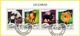 Bloc Feuillet Oblitéré - Les Chiens Bedlington Terrier Chihuahua Lancashire Heeler Loulou De Poméranie - Djibouti 2018 - Dschibuti (1977-...)