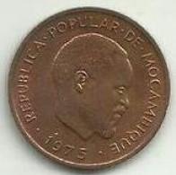 5 Centimos 1975 Moçambique Rare - Mozambique