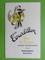 Carte Parfumée - Tourbillon - Eau De Cologne - Monternier - Montpellier - Modernes (à Partir De 1961)