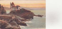 CPA - 138. BIARRITZ - La Villa Belza Et La Côte Des Basques - Biarritz