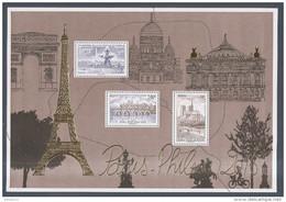 2016 - Bloc Feuillet F 5048 Paris-Philex 2016 NEUF ** LUXE , Doré Et  Gaufré , Monuments De PARIS , Salon Du Timbre 2016 - Blocs & Feuillets