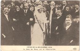 Dépt 75 - PARIS - FÊTES DE LA MI-CARÊME 1914 - La Reine Des Reines Sort De L'Hôtel-de-Ville - ELD - Arrondissement: 01