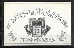 LOT 1810568 - ENTIER 192 CP1 CP OFFICIELLE EXPOSITION REGIONALE DE STRASBOURG DU 16 AU 26 MAI 1926 - Entiers Postaux