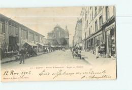 NANCY - Eglise Saint Sébastien - Place Du Marché -  Beau Plan Animé - Dos Simple - Ed. Bergeret -  2 Scans - Nancy