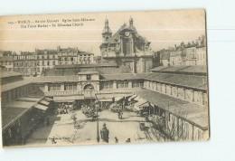 NANCY - Eglise Saint Sébastien - Place Du Marché Couvert -  Beau Plan Animé -  2 Scans - Nancy
