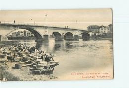 NANCY - Pont De Malzeville - Les Lavandières En Plein Travail-  Beau Plan Animé -  2 Scans - Nancy