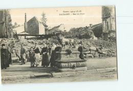 BACCARAT - Rue Des Ponts - Guerre De 1914 / 1918  -  Beau Plan Animé -  2 Scans - Baccarat
