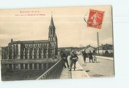 BACCARAT - Pont Sur La Meurthe Et L' Eglise -  Beau Plan Animé -  2 Scans - Baccarat