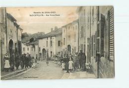 BADONVILLER - Rue Notre Dame -  Guerre 1914 / 1915 - Beau Plan Animé -  Ed. E. Fournier - 2 Scans - Non Classificati