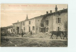 VITRIMONT  - Rue Du Château Après Bombardement De Août 1914  - Superbe Plan Animé - Ed. Quantin -  2 Scans - Guerra 1914-18