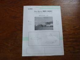 Folder Recto Verso A4 (français-anglais) Aviation GADM Marcel Dassault Mystère 20 - Aviation
