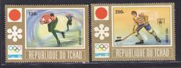 TCHAD AERIENS N°  113 & 114 ** MNH Neufs Sans Charnière, TB (D7744) Jeux Olympiques D'hiver à Sapporo - 1972 - Tschad (1960-...)
