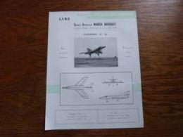Folder Recto Verso A4 (français-anglais) Aviation Militaire GADM Marcel Dassault Etandard IV - M - Aviación