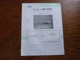 Folder Recto Verso A4 (français-anglais) Aviation Militaire GADM Marcel Dassault Mirage IV - Luchtvaart