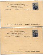 ARGENTINE (10) : Carte Réponse Entier Séparé Soit 2 Cartes Postal 5 C - Enteros Postales
