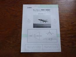 Folder Recto Verso A4 (français-anglais) Aviation Militaire GADM Marcel Dassault Balzac V - Luchtvaart