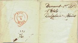 LAC De DINANT 01/12/1844 Vers LIEGE  H. DESSAIN éditeur-imprimeur - Signé DELPLACE-HAIRS Imprimeur-éditeur à DINANT - 1830-1849 (Belgique Indépendante)