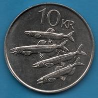 ICELAND 10 KRONUR 1984   KM# 29 FISH ( Mallotus Villosus ) - Islandia