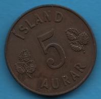ICELAND 5 AURAR 1946   KM# 9 - Islandia