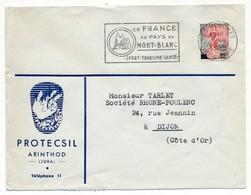 """Enveloppe En-tête - PROTECSIL - ARINTHOL (Jura) - OMEC """"En France, Au Pays Du Mont Blanc..."""" Les Houches Hte Savoie 1959 - Advertising"""