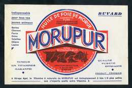 """Buvard """"Huile De Foie De Morue MORUPUR - Pêcherie De Bordeaux - Armateurs Producteurs"""" Terreneuvas - Morue - Farm"""