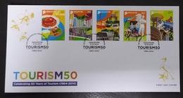 Singapore 2014 Celebrating 50 Years Of Tourism FDC - Singapore (1959-...)