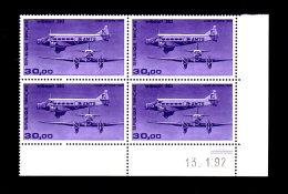 FRANCE - 1986 - PA  N°59b - Bloc De 4 Coin Daté - NEUF LUXE **/ MNH - Cdf, TB - Dated Corners