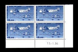 FRANCE - 1984 - PA  N°57b - Bloc De 4 Coin Daté - NEUF LUXE **/ MNH - Cdf, TB - Dated Corners