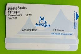 Tickets Transport Portugal.Trem - Métro