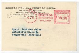 Cartolina Commerciale Milano - Società Italiana Ernesto Breda - 1937 - Milano