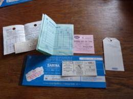 Billet Aviation Sabena Belgrade Brussels 1972 + Petits Papiers JAT Et Autres Pub Agfa Gevaert - Billets D'embarquement D'avion