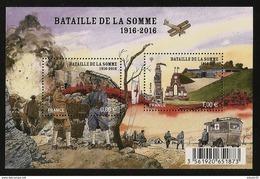 2016 - Bloc Feuillet F 5075  BATAILLE De La SOMME NEUF** LUXE MNH - Sheetlets