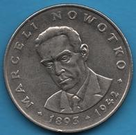 POLAND 20 Zlotych 1976 MW Nowotko   KM# 69 - Poland