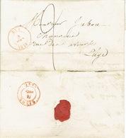 LAC 4/08/1847 De HUY Vers LIEGE H. DESSAIN Imprimeur-éditeur à LIEGE - Port 2 Décimes - Signé Melle HANSOTTE - 1830-1849 (Belgique Indépendante)