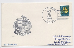 ANTARCTIC South Pole Mail Cover Polar Ship USA Deep Freeze - Basi Scientifiche