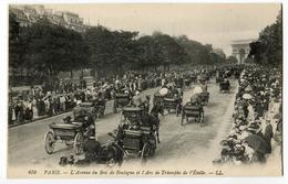 CPA 75 PARIS Av Du Bois De Boulogne (nombreux Attelages ) - Champs-Elysées