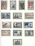 France   1956 à 1961 Timbres Poste  Années Complètes    Cat Yt  N° 1050 à  1324    N** MNH Cote 580 - Collections (sans Albums)